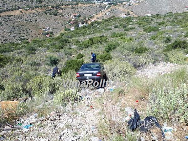 Άγιο είχε οδηγός ΙΧ που έπεσε σε γκρεμό στο Σχιστό Κορυδαλλού