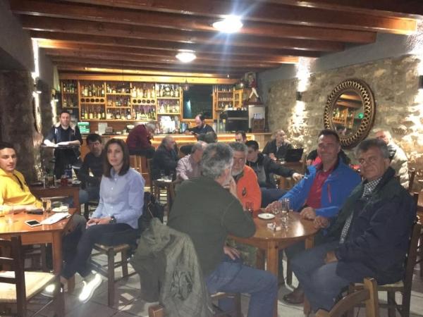 Περιοδεία στα χωριά των Αγράφων για τους υποψηφίους συμβούλους της «Στερεά Υπεροχής»